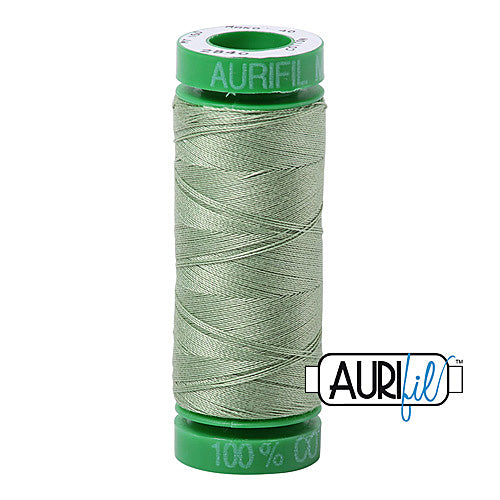 Aurifil Mako 40wt 2-ply Cotton 150 m (164 yd.) spool - 2840 Loden Green<br><font color = red>Please note, this item is not available in-store, but will be ordered for you.</font>