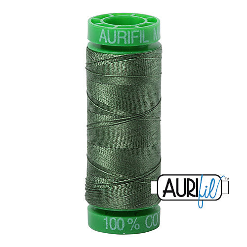Aurifil Mako 40wt 2-ply Cotton 150 m (164 yd.) spool - 2890 Very Dark Grass Green<br><font color = red>Please note, this item is not available in-store, but will be ordered for you.</font>