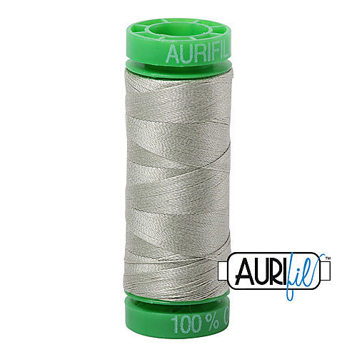 Aurifil Mako 40wt 2-ply Cotton 150 m (164 yd.) spool - 2902 Light Laurel Green<br><font color = red>Please note, this item is not available in-store, but will be ordered for you.</font>