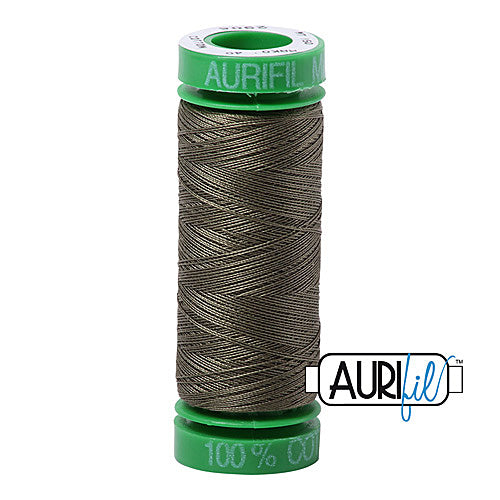 Aurifil Mako 40wt 2-ply Cotton 150 m (164 yd.) spool - 2905 Army Green<br><font color = red>Please note, this item is not available in-store, but will be ordered for you.</font>