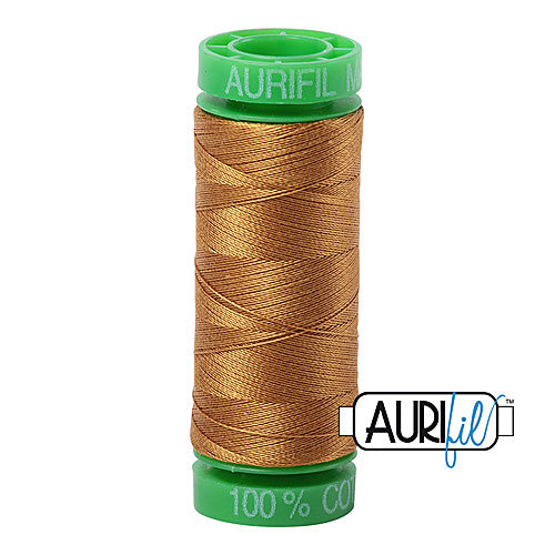 Aurifil Mako 40wt 2-ply Cotton 150 m (164 yd.) spool - 2975 Brass<br><font color = red>Please note, this item is not available in-store, but will be ordered for you.</font>
