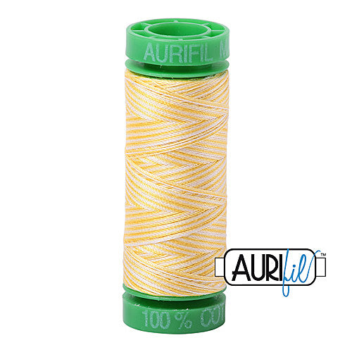 Aurifil Mako 40wt 2-ply Cotton 150 m (164 yd.) spool - 3910 Lemon Ice<br><font color = red>Please note, this item is not available in-store, but will be ordered for you.</font>