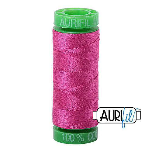 Aurifil Mako 40wt 2-ply Cotton 150 m (164 yd.) spool - 4020 Fuchsia<br><font color = red>Please note, this item is not available in-store, but will be ordered for you.</font>