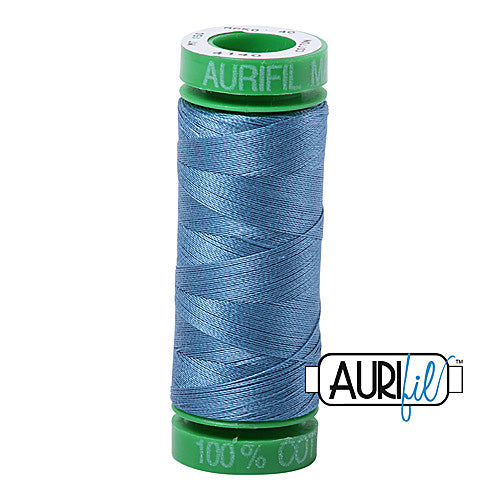Aurifil Mako 40wt 2-ply Cotton 150 m (164 yd.) spool - 4140 Wedgewood<br><font color = red>Please note, this item is not available in-store, but will be ordered for you.</font>