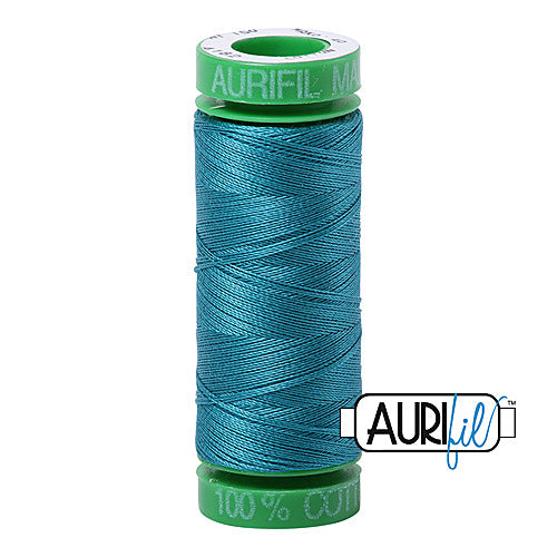 Aurifil Mako 40wt 2-ply Cotton 150 m (164 yd.) spool - 4182 Dark Turquoise<br><font color = red>Please note, this item is not available in-store, but will be ordered for you.</font>