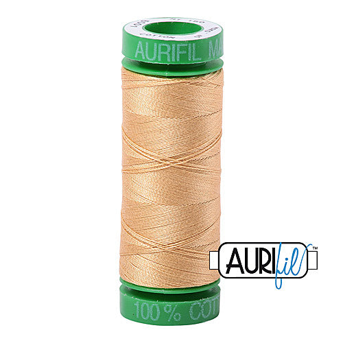 Aurifil Mako 40wt 2-ply Cotton 150 m (164 yd.) spool - 5001 Ocher Yellow<br><font color = red>Please note, this item is not available in-store, but will be ordered for you.</font>