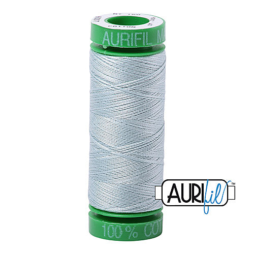 Aurifil Mako 40wt 2-ply Cotton 150 m (164 yd.) spool - 5007 Light Grey Blue<br><font color = red>Please note, this item is not available in-store, but will be ordered for you.</font>