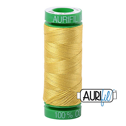 Aurifil Mako 40wt 2-ply Cotton 150 m (164 yd.) spool - 5015 Gold Yellow<br><font color = red>Please note, this item is not available in-store, but will be ordered for you.</font>