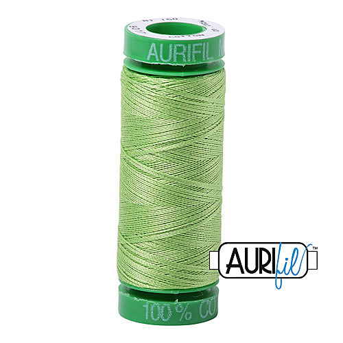 Aurifil Mako 40wt 2-ply Cotton 150 m (164 yd.) spool - 5017 Shining Green<br><font color = red>Please note, this item is not available in-store, but will be ordered for you.</font>