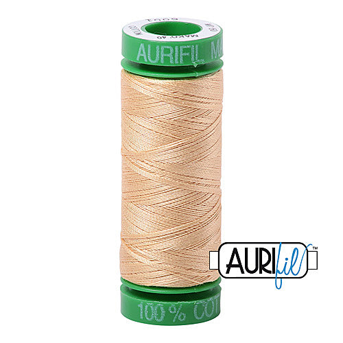 Aurifil Mako 40wt 2-ply Cotton 150 m (164 yd.) spool - 6001 Light Caramel<br><font color = red>Please note, this item is not available in-store, but will be ordered for you.</font>