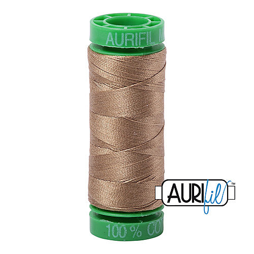 Aurifil Mako 40wt 2-ply Cotton 150 m (164 yd.) spool - 6010 Toast<br><font color = red>Please note, this item is not available in-store, but will be ordered for you.</font>