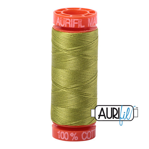 Aurifil Mako 50wt Cotton 200 m (220 yd.) spool - 1147 Light Leaf Green