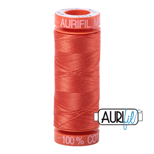 Aurifil Mako 50wt Cotton 200 m (220 yd.) spool - 1154 Dusty Orange