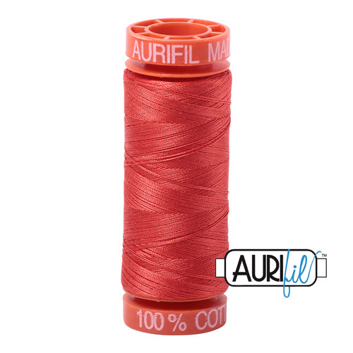 Aurifil Mako 50wt Cotton 200 m (220 yd.) spool - 2277 Light Red Orange