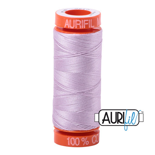 Aurifil Mako 50wt Cotton 200 m (220 yd.) spool - 2510 Light Lilac