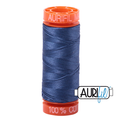 Aurifil Mako 50wt Cotton 200 m (220 yd.) spool - 2775 Street Blue
