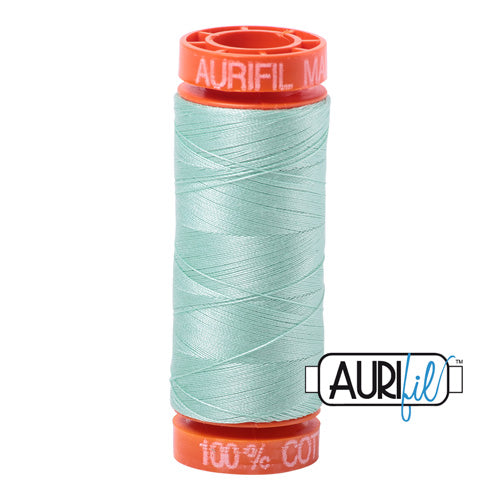 Aurifil Mako 50wt Cotton 200 m (220 yd.) spool - 2830 Mint