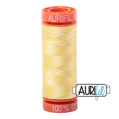 Aurifil Mako 50wt Cotton 200 m (220 yd.) spool - 3910 Lemon Ice