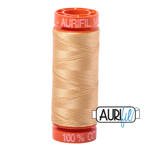 Aurifil Mako 50wt Cotton 200 m (220 yd.) spool - 5001 Ocher Yellow