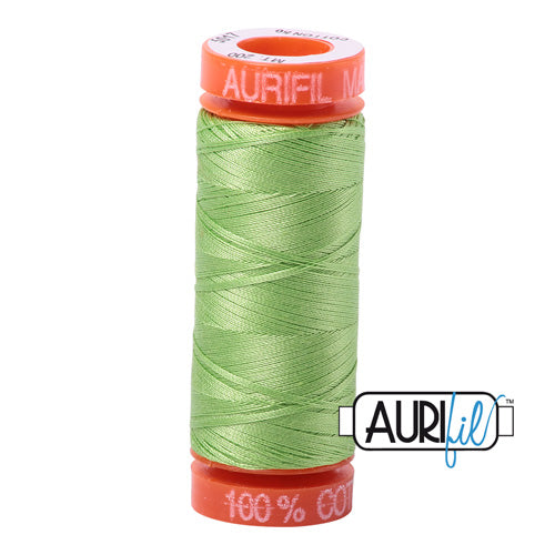 Aurifil Mako 50wt Cotton 200 m (220 yd.) spool - 5017 Shining Green