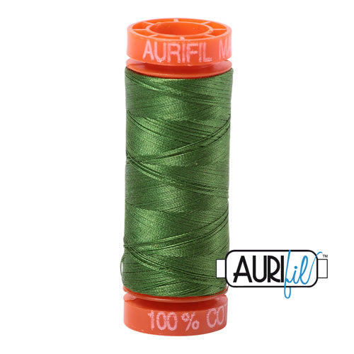 Aurifil Mako 50wt Cotton 200 m (220 yd.) spool - 5018 Dark Grass Green