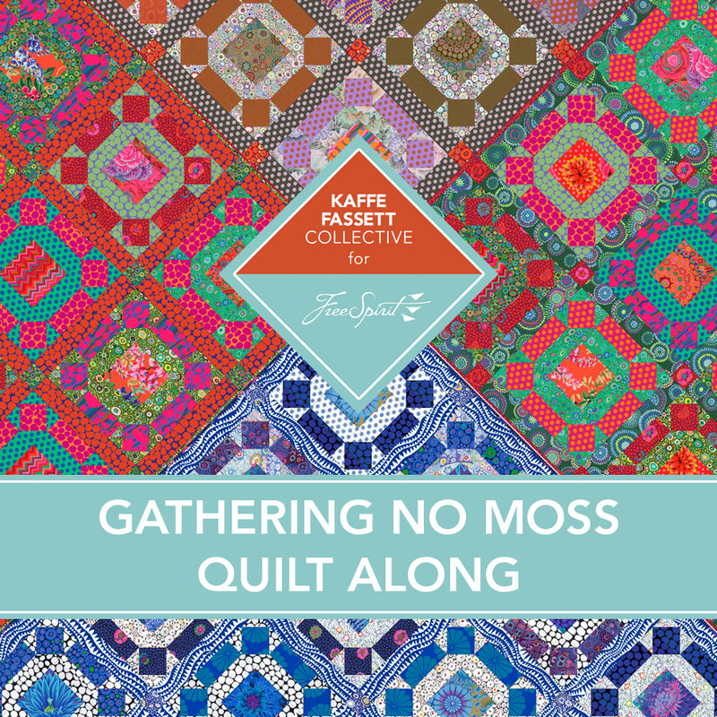 Gathering No Moss Gemstone Quilt Kit WITH BACKING, THREAD, & NEEDLE - Pre-pay Early Bird Special, Limited Quantities - read description for full details