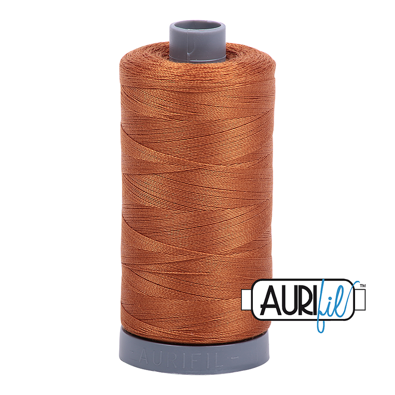 Aurifil Mako 28wt Cotton 750 m (820 yd.) spool - 2155 Cinnamon