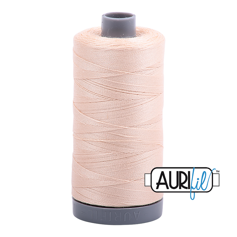 Aurifil Mako 28wt Cotton 750 m (820 yd.) spool - 2315 Shell