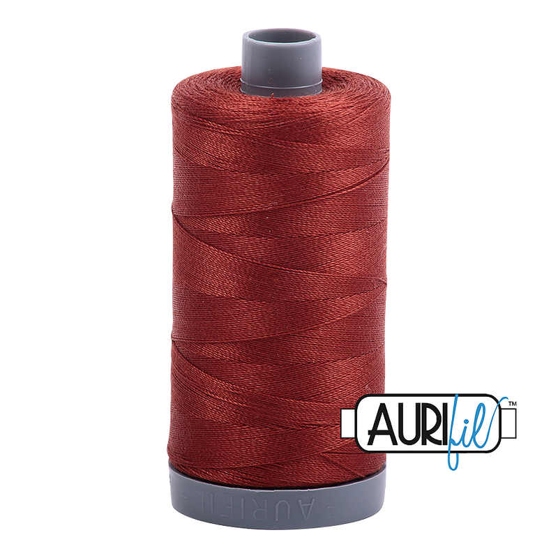 Aurifil Mako 28wt Cotton 750 m (820 yd.) spool - 2355 Rust
