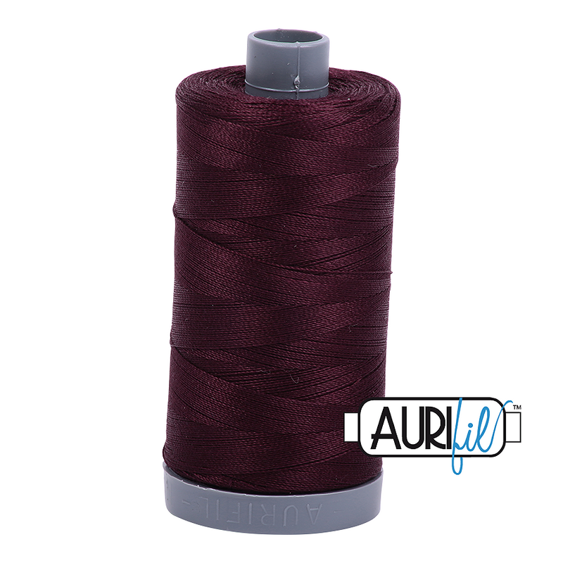 Aurifil Mako 28wt Cotton 750 m (820 yd.) spool - 2465 Very Dark Brown