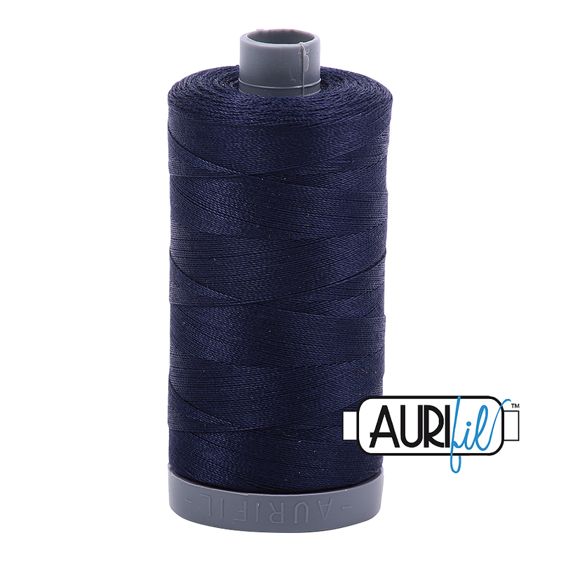 Aurifil Mako 28wt Cotton 750 m (820 yd.) spool - 2785 Very Dark Navy