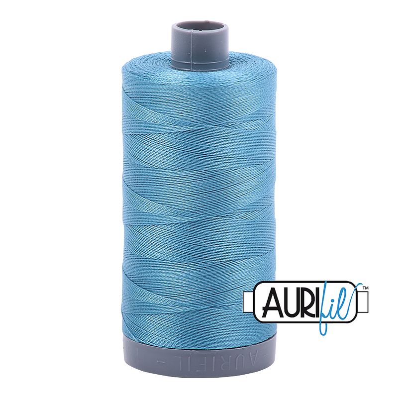 Aurifil Mako 28wt Cotton 750 m (820 yd.) spool - 2815 Teal