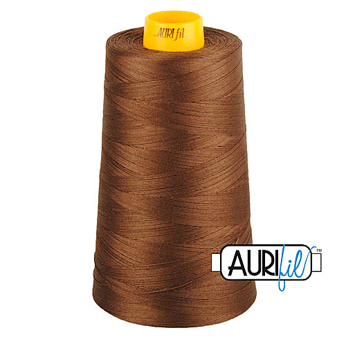 Aurifil Mako 40wt 3-ply Cotton 3000 m (3250 yd.) cone - 1285 Medium Bark<br><font color = red>Please note, this thread is not available in-store, but will be ordered for you.</font>