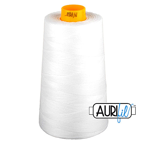 Aurifil Mako 40wt 3-ply Cotton 3000 m (3250 yd.) cone - 2024 White<br><font color = red>Please note, this thread is not available in-store, but will be ordered for you.</font>