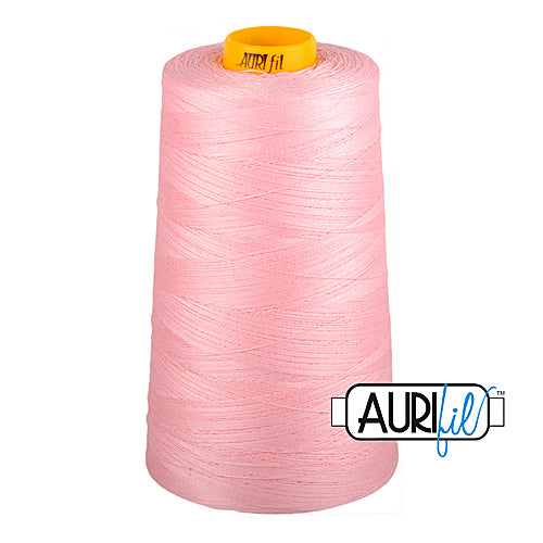 Aurifil Mako 40wt 3-ply Cotton 3000 m (3250 yd.) cone - 2423 Baby Pink<br><font color = red>Please note, this thread is not available in-store, but will be ordered for you.</font>