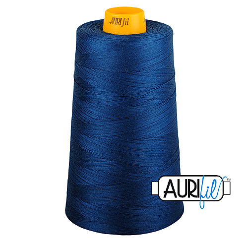 Aurifil Mako 40wt 3-ply Cotton 3000 m (3250 yd.) cone - 2783 Medium Delft Blue<br><font color = red>Please note, this thread is not available in-store, but will be ordered for you.</font>