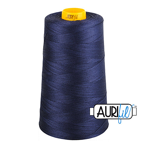 Aurifil Mako 40wt 3-ply Cotton 3000 m (3250 yd.) cone - 2785 Very Dark Navy<br><font color = red>Please note, this thread is not available in-store, but will be ordered for you.</font>