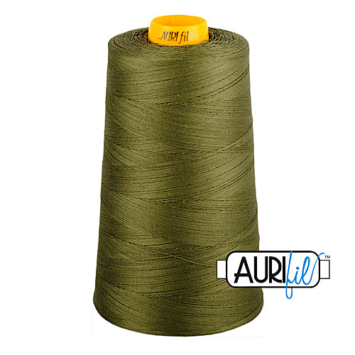 Aurifil Mako 40wt 3-ply Cotton 3000 m (3250 yd.) cone - 2905 Army Green<br><font color = red>Please note, this thread is not available in-store, but will be ordered for you.</font>