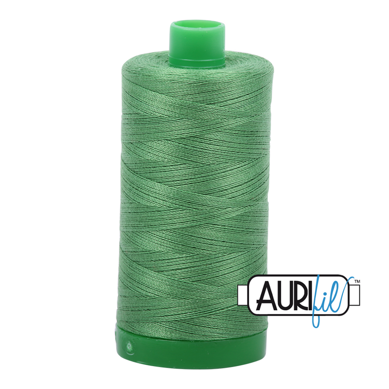 Aurifil Mako 40wt 2-ply Cotton 1000 m (1094 yd.) spool - 2884 Green Yellow
