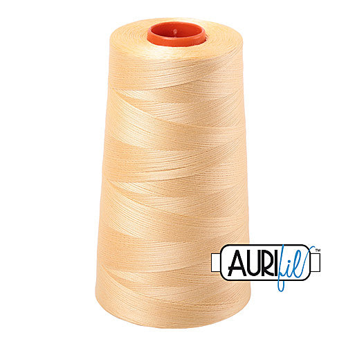 Aurifil Mako 50wt Cotton 5900 m (6452 yd.) cone - 2130 Medium Butter<br><font color = red>Please note, that this colour in this size is not available in-store, but will be ordered for you.</font>