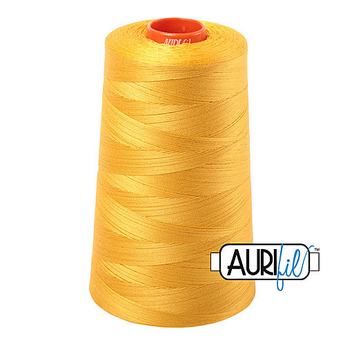 Aurifil Mako 50wt Cotton 5900 m (6452 yd.) cone - 2135 Yellow<br><font color = red>Please note, that this colour in this size is not available in-store, but will be ordered for you.</font>