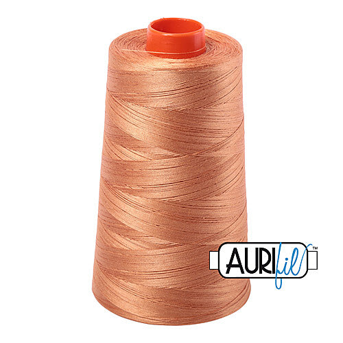 Aurifil Mako 50wt Cotton 5900 m (6452 yd.) cone - 2210 Caramel<br><font color = red>Please note, that this colour in this size is not available in-store, but will be ordered for you.</font>