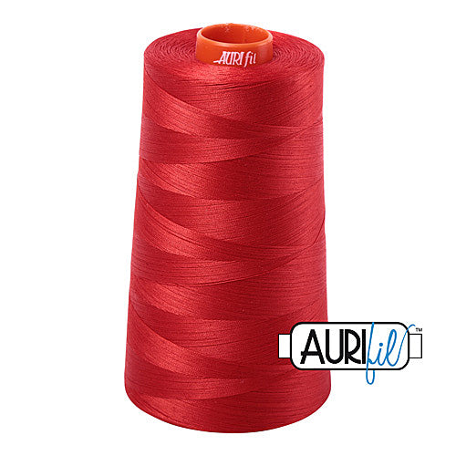 Aurifil Mako 50wt Cotton 5900 m (6452 yd.) cone - 2270 Paprika<br><font color = red>Please note, that this colour in this size is not available in-store, but will be ordered for you.</font>