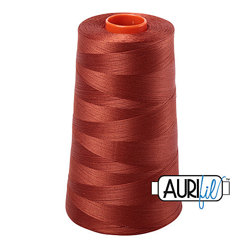 Aurifil Mako 50wt Cotton 5900 m (6452 yd.) cone - 2350 Copper<br><font color = red>Please note, that this colour in this size is not available in-store, but will be ordered for you.</font>