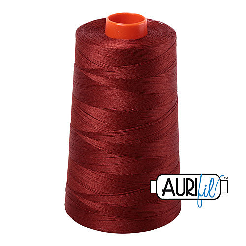 Aurifil Mako 50wt Cotton 5900 m (6452 yd.) cone - 2355 Rust<br><font color = red>Please note, that this colour in this size is not available in-store, but will be ordered for you.</font>