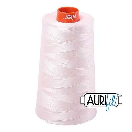 Aurifil Mako 50wt Cotton 5900 m (6452 yd.) cone - 2405 Oyster<br><font color = red>Please note, that this colour in this size is not available in-store, but will be ordered for you.</font>