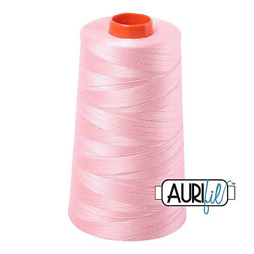 Aurifil Mako 50wt Cotton 5900 m (6452 yd.) cone - 2415 Blush<br><font color = red>Please note, that this colour in this size is not available in-store, but will be ordered for you.</font>