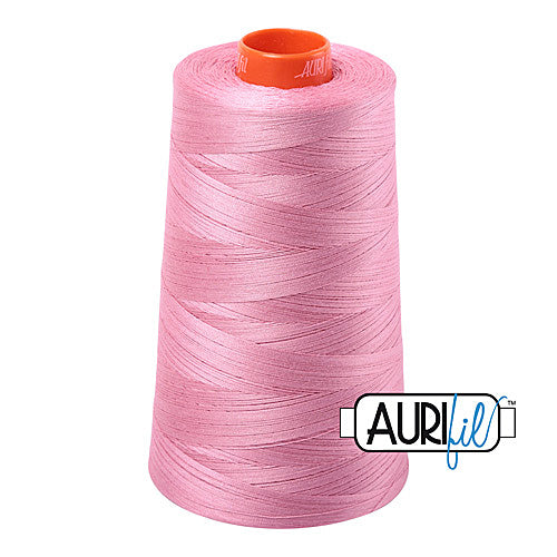 Aurifil Mako 50wt Cotton 5900 m (6452 yd.) cone - 2430 Antique Rose<br><font color = red>Please note, that this colour in this size is not available in-store, but will be ordered for you.</font>