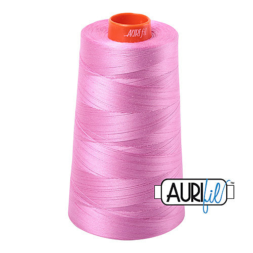 Aurifil Mako 50wt Cotton 5900 m (6452 yd.) cone - 2479 Medium Orchid<br><font color = red>Please note, that this colour in this size is not available in-store, but will be ordered for you.</font>