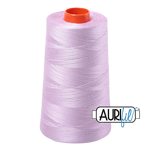 Aurifil Mako 50wt Cotton 5900 m (6452 yd.) cone - 2510 Light Lilac<br><font color = red>Please note, that this colour in this size is not available in-store, but will be ordered for you.</font>